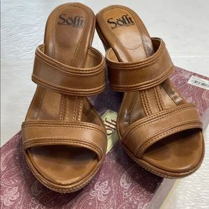 Soft Meira brown wedges